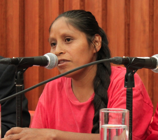 Ms. Inés Fernández Ortega testifying before the court concerning her rape by Mexican soldiers.